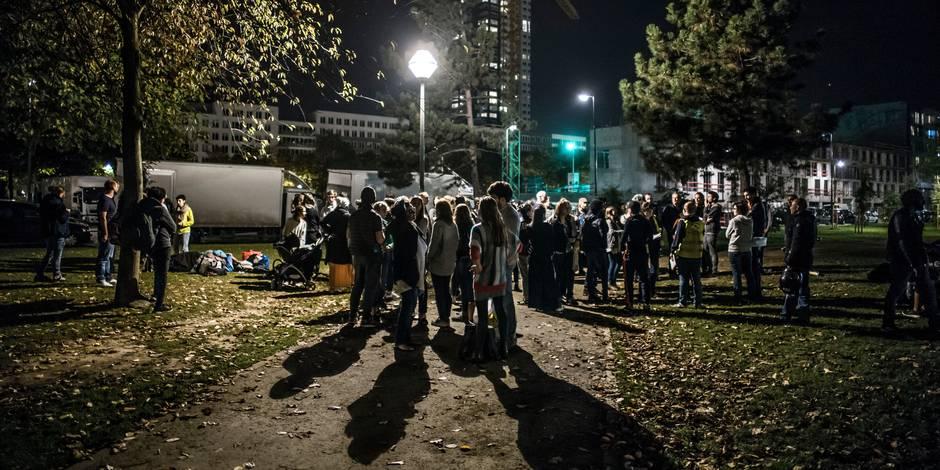 Opération policière au parc Maximilien ciblant les migrants