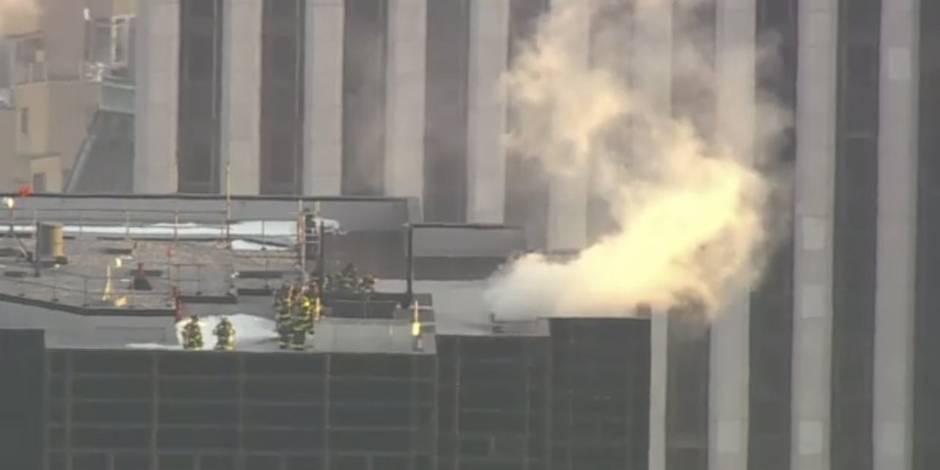 La Trump Tower de New York en feu