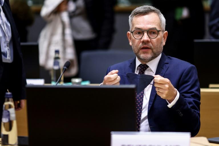 le secrétaire d'Etat allemand aux Affaires européennes Michael Roth, le 21 septembre 2021 à Bruxelles