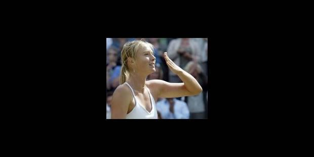 La première finale de Sharapova... et sans doute pas la dernière - La Libre