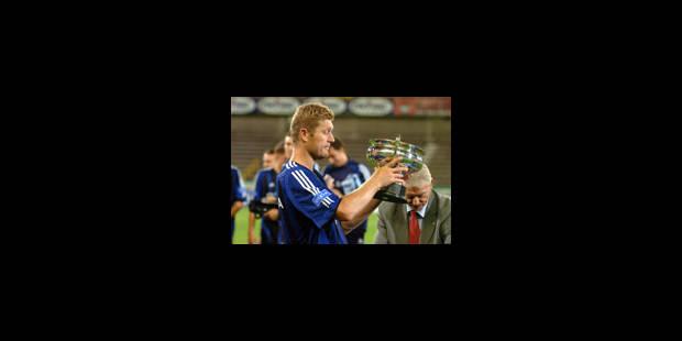 Premier trophée de Ceulemans avec le FC Bruges - La Libre