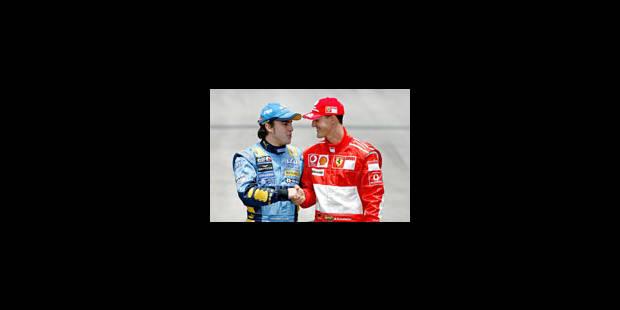 "Alonso champion: ""Merci Michael"" - La Libre"