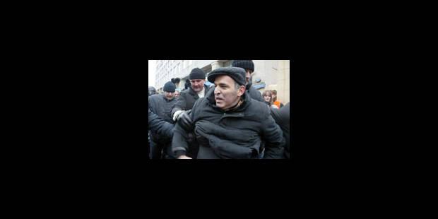 L'opposant Garry Kasparov arrêté lors d'une manifestation à Moscou - La Libre