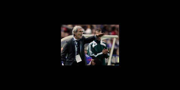 Domenech court après la victoire - La Libre