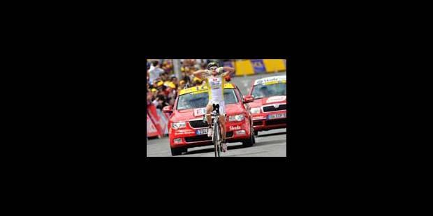 Victoire de Piepoli, Cadel Evans en jaune - La Libre