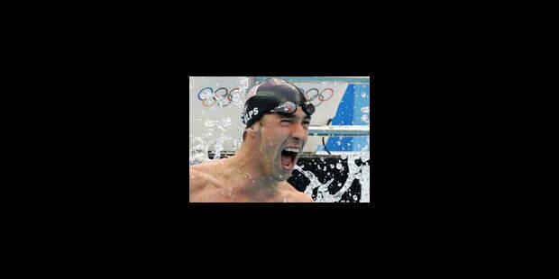 JO- 8 médailles d'or et un record pour Phelps - La Libre