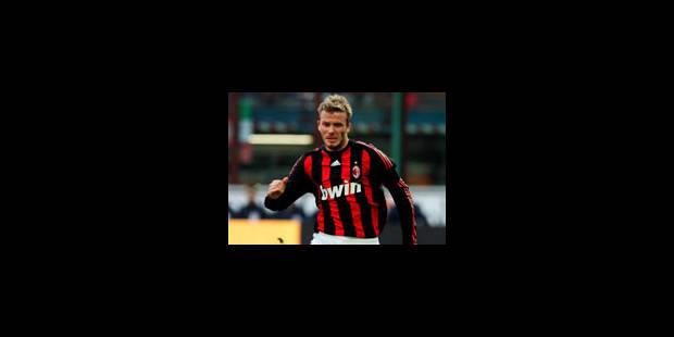 L'AC Milan confirme le prêt de Beckham jusqu'au 30 juin