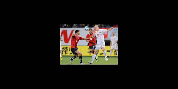 Kirin Cup: La Belgique égalise avec le Chili