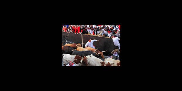 Espagne: un mort lors du 4e lâcher de taureaux de la San Fermin - La Libre