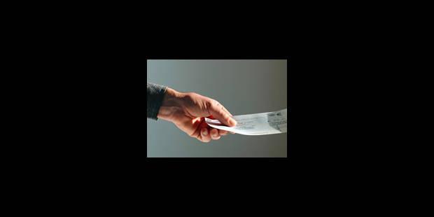 Le chèque en voie de disparition - La Libre
