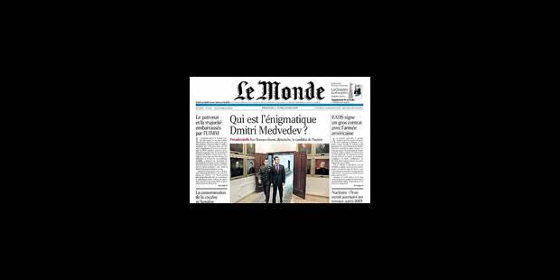 Grève: Le Monde absent des kiosques mardi - La Libre