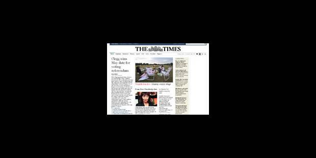 La consultation du Times sur internet est payante depuis vendredi - La Libre
