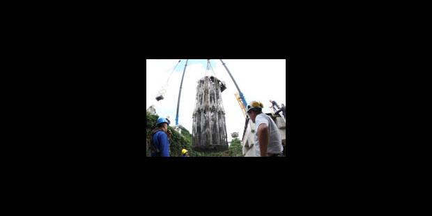 La tour de Wim Delvoye taquine les nuages - La Libre