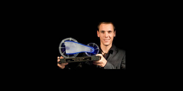 Philippe Gilbert reçoit le Vélo de Cristal - La Libre