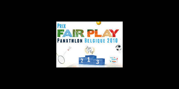 Panathlon Belgique a décerné ses Prix Fair Play 2010 - La Libre