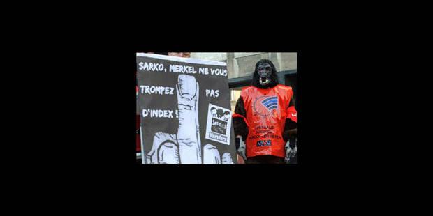 Euromanif: les syndicats demandent une Europe plus solidaire - La Libre