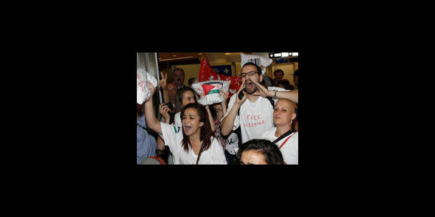 Les militants pro-palestiniens manifestent devant les Affaires étrangères - La Libre