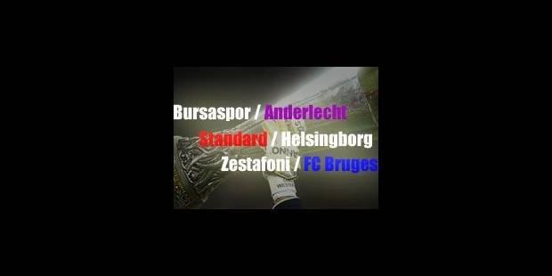 Fortunes diverses pour les clubs belges en Europa League - La Libre