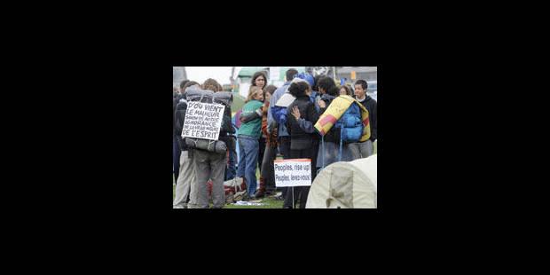Indignés: le directeur de HUB révolté des dégradations - La Libre