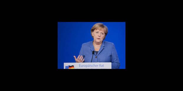 """Merkel: """"Réparer les imperfections de l'euro, maintenant ou jamais"""" - La Libre"""
