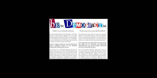 Une pétition en faveur de la circonscription fédérale