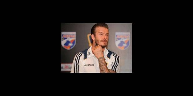 Beckham, une vraie star, surtout en dehors des terrains - La Libre