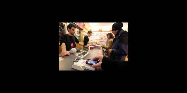 Payer ses courses avec son GSM - La Libre