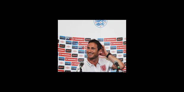 L'Angleterre jouera l'Euro sans Lampard - La Libre