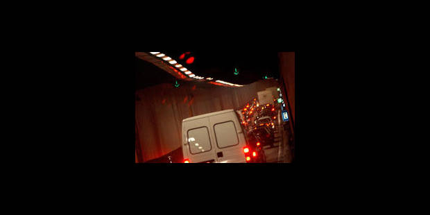 Le tunnel Leopold II partiellement fermé - La Libre