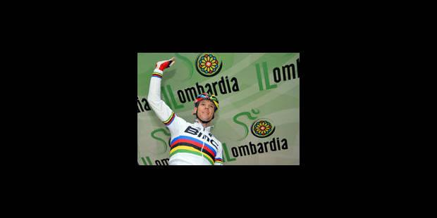Philippe Gilbert chute et abandonne au Tour de Lombardie - La Libre