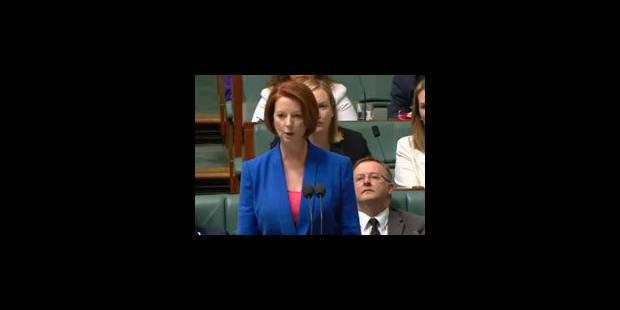 L'envolée lyrique de Julia Gillard contre la misogynie
