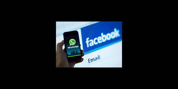 WhatsApp dans la ligne de mire de Facebook - La Libre