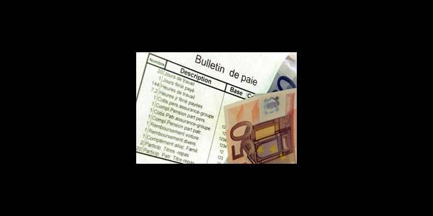 Le salaire mensuel moyen s'élevait à 3.103 € brut en 2010 - La Libre