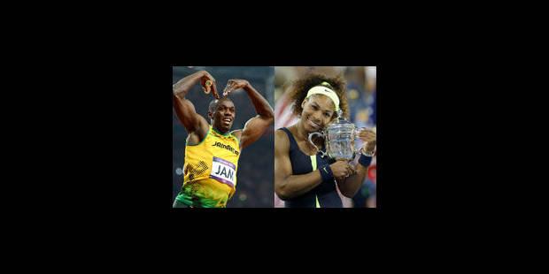 Usain Bolt et Serena Williams, Sportif et Sportive de l'année 2012 - La Libre