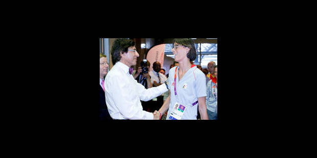Elio Di Rupo remercie Tia Hellebaut pour sa contribution au sport belge - La Libre