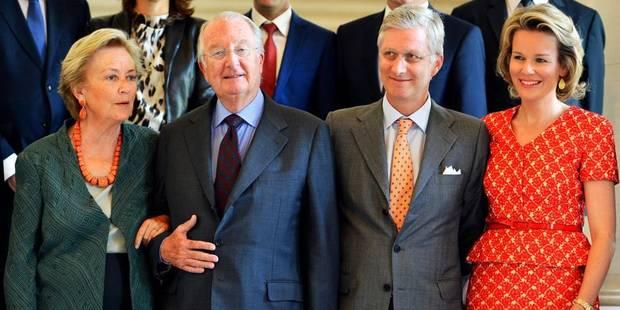 Le Roi reçoit les présidents de partis - La Libre