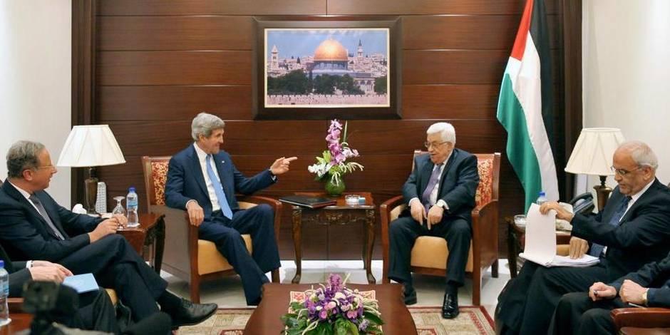 Kerry obtient un accord pour une reprise des pourparlers de paix entre Palestiniens et Israéliens
