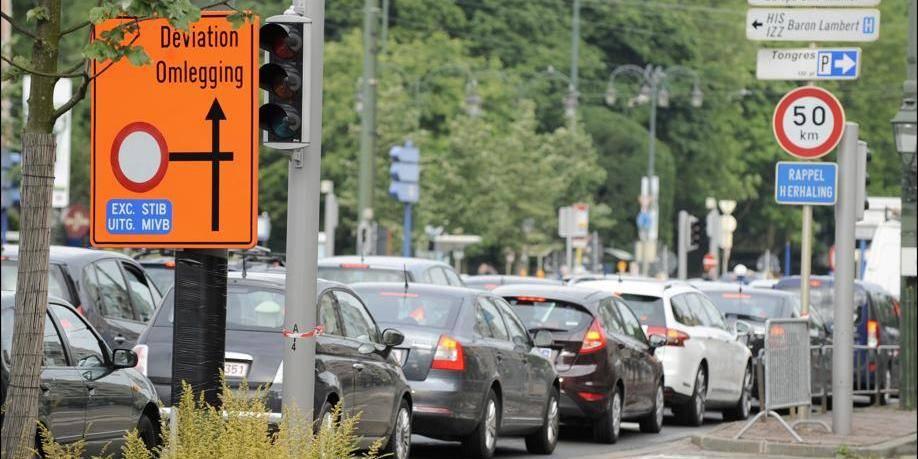 Les embouteillages à Bruxelles coûtent 511 millions
