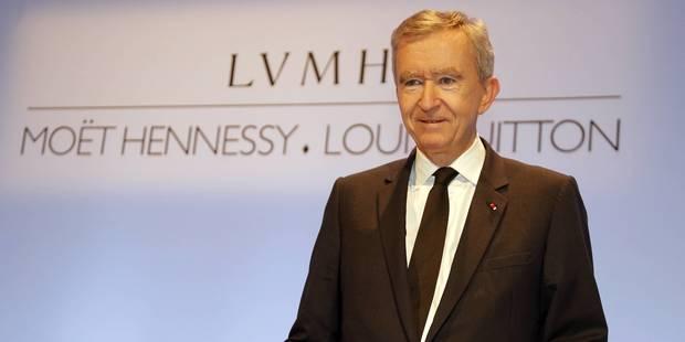 Bernard Arnault injecte encore 2,1 milliards en Belgique - La Libre