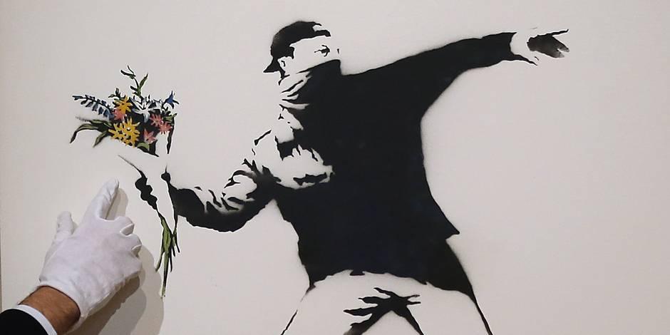 Banksy: de la rue aux ventes aux enchères