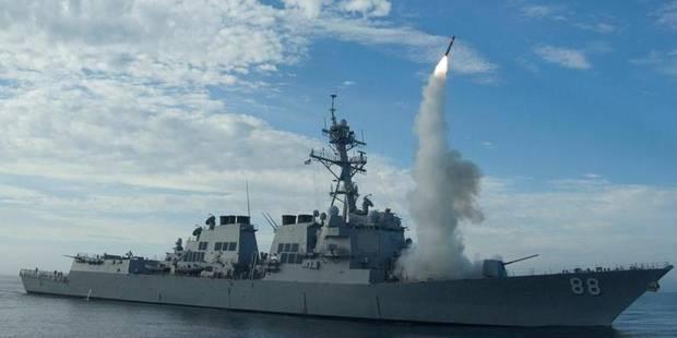 """Tirs de missiles en Méditerranée: """"Rien à voir"""" avec la Syrie, selon le Pentagone - La Libre"""