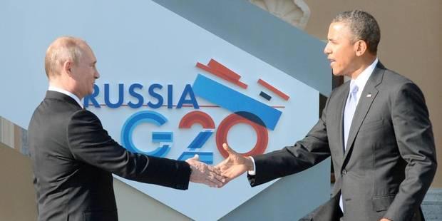 Poutine accueille Obama au G20 par une poignée de mains - La Libre
