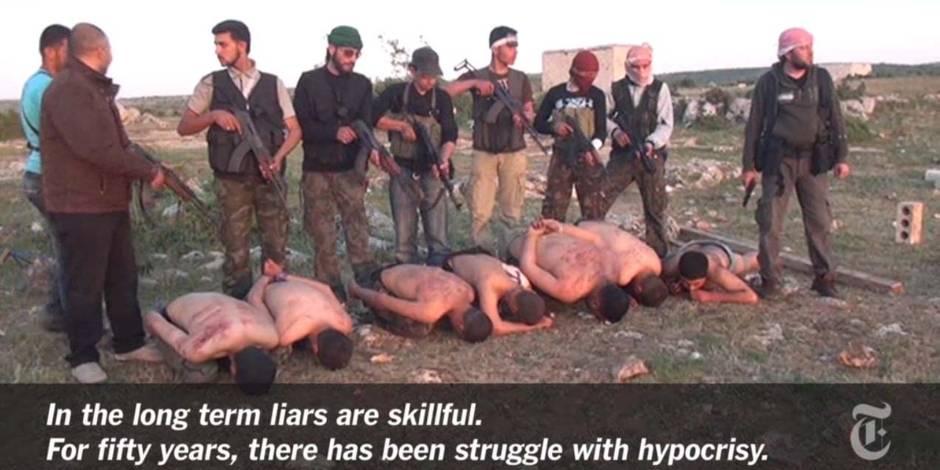 Syrie: une vidéo montre des exécutions de soldats par des rebelles