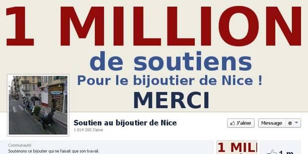 Le bijoutier de Nice et son million de soutiens - La Libre