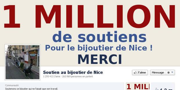 France: 1 page Facebook revendique 1 million de soutien au bijoutier qui a tué un braqueur - La Libre
