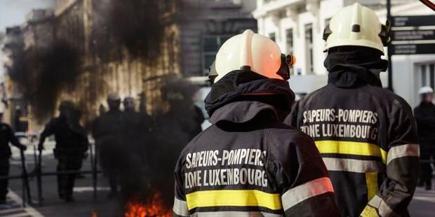 """Manifestation des pompiers à Bruxelles: """"Les nouvelles sont bonnes, nous levons le camp"""" - La Libre"""