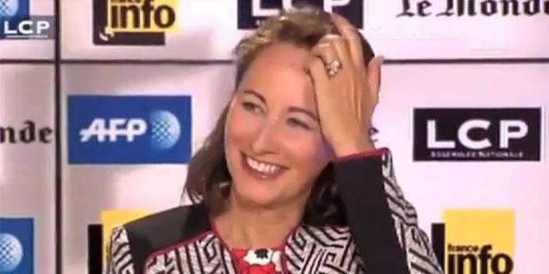 Ségolène Royal très embarrassée après une bourde