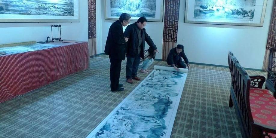 Un peintre chinois en hiver