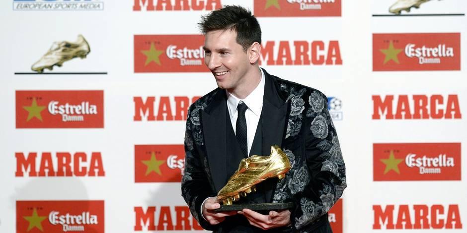 Lionel Messi reçoit son troisième Soulier d'Or européen, un record