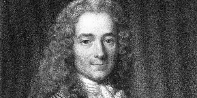 Voltaire Penname Of François-Marie Arouet, 1694-1778. French Writer And Philosopher. From The Book ¿Gallery Of Portraits¿ Published London 1833. Reporters / Design Pix